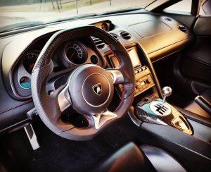 Elliott's Lamborghini Gallardo Interior